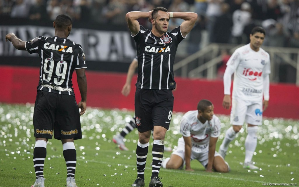 Derrota do Corinthians para o Santos pela Copa do Brasil