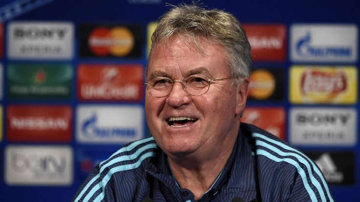 Guus Hiddink mostrou que está tranquilo para o jogo contra o PSG.