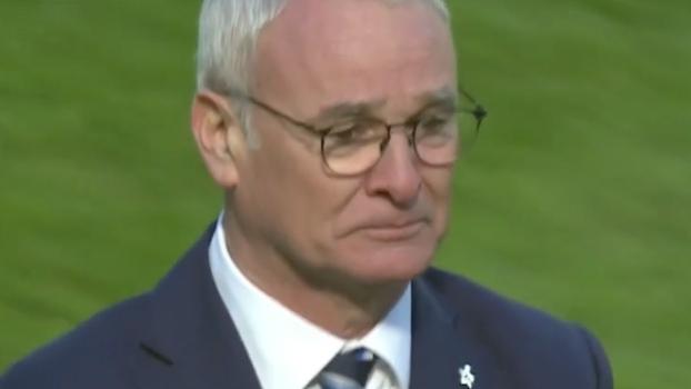 Ranieri se emociona e chora após mais uma vitória do Leicester no Inglês