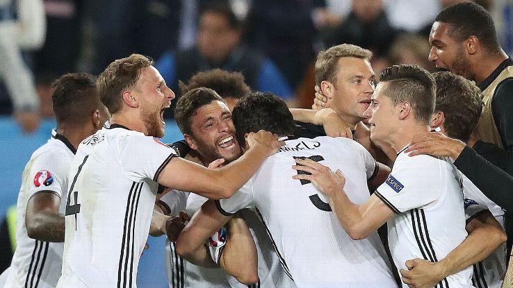 O jogo das quartas de final da Alemanha contra a Itália também foi um dos jogos mais intensos do torneio.