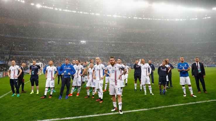 Chegando as quartas de final de seu primeiro grande torneio, a Islândia e seus fãs renderam muitos momentos mágicos.