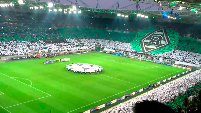 Borussia-Park, casa do Monchengladbach.