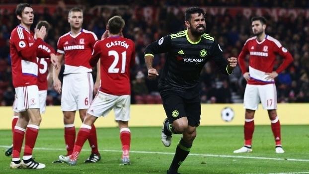 Diego Costa fez o gol da vitória no jogo contra o Middlesbrough