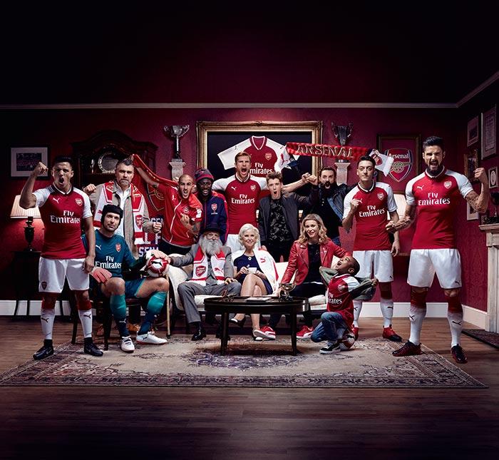 Campanha de lançamento da nova camisa do Arsenal - #WeAreTheArsenal