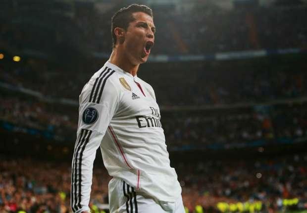 Cristiano Ronaldo comemorando gol pelo Real Madrid