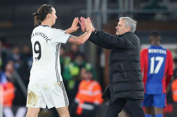 Zlatan Ibrahimovic e José Mourinho