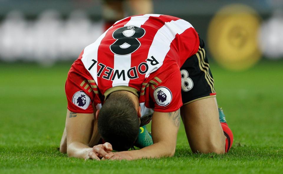 A frustação de Jack Rodwell jogando pelo Sunderland