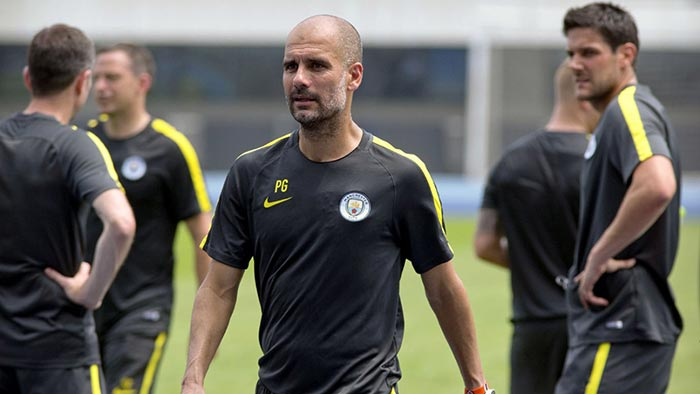Pep Guardiola na pré-temporada do Manchester City