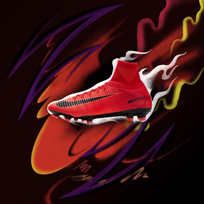 Nova chuteira Nike Sangue Quente Mercurial
