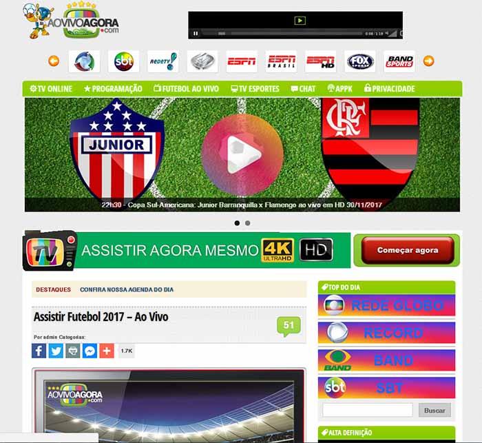 Ao vivo agora - - Assistir futebol online