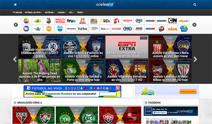 Os melhores sites para assistir futebol. 10 – Ao Vivo na TV. Ao vivo na TV  - Assistir futebol online aaddcc0e77e59
