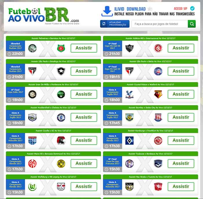 Futebol ao Vivo BR - - Assistir futebol online