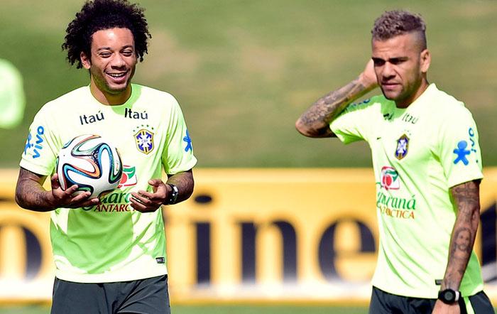 Daniel Alves e Marcelo
