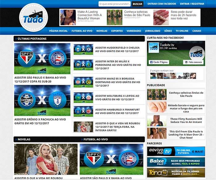 Tudo TV - - Assistir futebol online