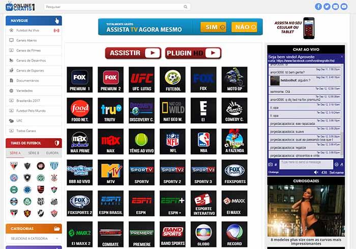 TV Online Grátis 1 - - Assistir futebol online