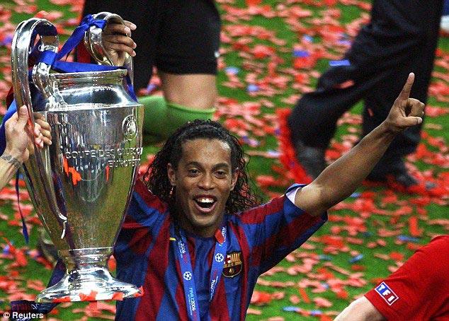 Ronaldinho Gaúcho campeão da Champions League