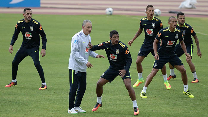 Treino da seleção brasileira de Tite