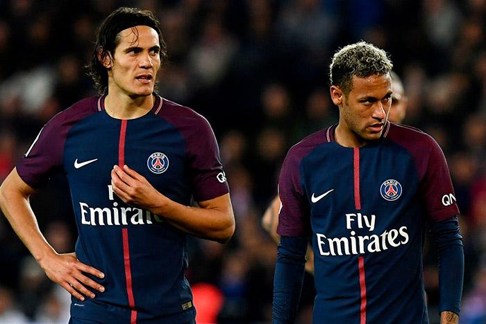 Edinson Cavani e Neymar PSG